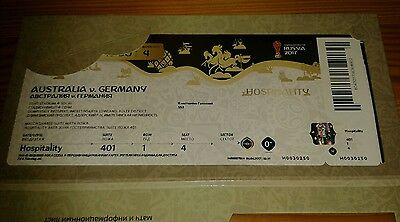 VIP Ticket Unused 2017 Fifa Confed Cup #4 Australien - Deutschland DFB Germany