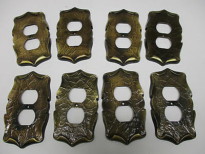 8 Amerock carriage house wall outlet plates in antique brass finish