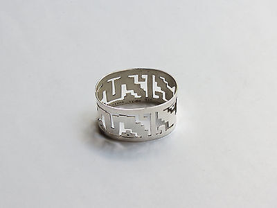 Vintage Sterling Silver Napkin Ring, MEXICO
