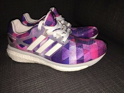 Adidas Energy Boost - Geometric Techfit Running Shoes  Size 8 - Womens