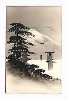c1910 PPC Japan Silhouette moonlight scene (e)