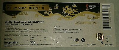 Used VIP Ticket 2017 Fifa Confed Cup #4 Australien - Deutschland DFB Germany