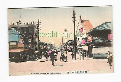c1910 PPC Theatre Street at Yokohama