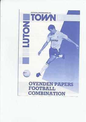 Luton Town Home Reserves v Tottenham Hotspur Reserves Football Programme No date