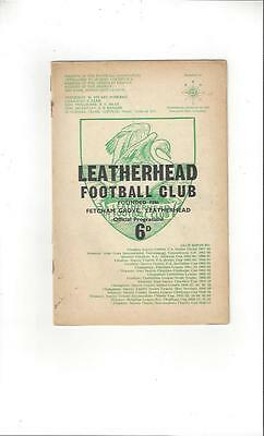 Leatherhead v Maidenhead 1968/69 Football Programme