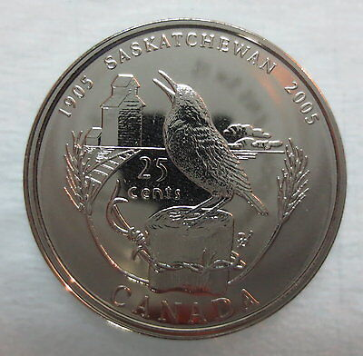 2005P Canada 25 Cents Saskatchewan Centennial Quarter Proof-Like Coin
