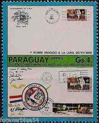 Paraguay 1974 Sc C 384 MNH Anniversaries Moon Covers UPU Centenary part set
