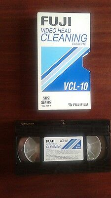FUJI VCL-10 Dry System VHS Video Head Cleaning Cassette