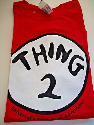 NEW Thing 2 Univeral Islands Of Adventure Adult XL T Shirt NWT