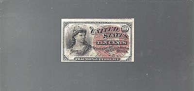 1869-1875 4th Issue 10¢ Fractional Currency, Liberty Bust,circulated