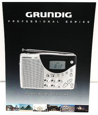 Original Brochure for the GRUNDIG PLATINUM DIGITAL G3D SHORTWAVE RADIO