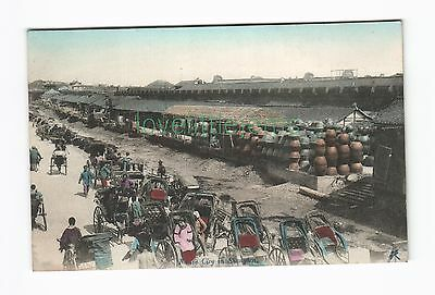 c1910 japanese PPC Native City in Shanghai  dragonfly