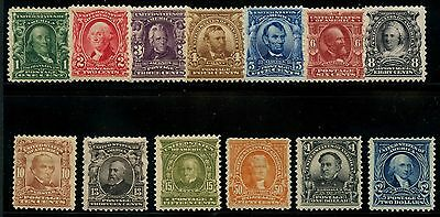 #300-312 F-Vf Og Lh // Hr Short Set (Missing $5.00) Cv $2,371 Wlm3572
