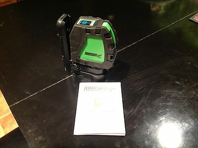 Johnson green cross line laser level , like new with manual
