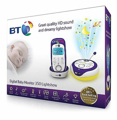 BT 350 Digital Baby Monitor Lightshow | HD Sound | Temperature Check | Free Post
