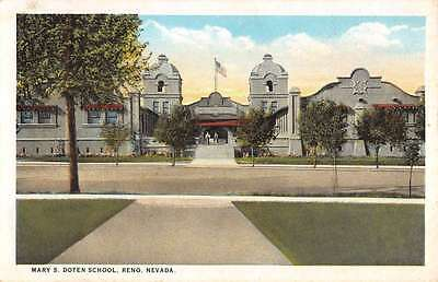 Reno Nevada Mary S Doten School Street View Antique Postcard K66789