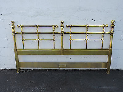 Hollywood Regency MCM King Size Headboard Painted By Drexel Barbados7640