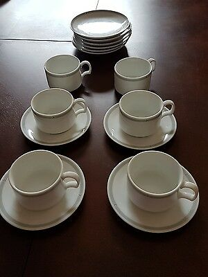 Various Canadian Airlines Inflight Top White Coffee/Tea Cups + Side Dishes