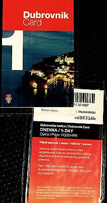 2 Dubrovnik Card 24 Hours. Before August 2018