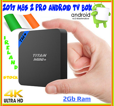 M8S 2 Pro 8GB 2GB 4K UHD WIFI KODI Android 6 Android Smart TV BOX Quad Core 2017