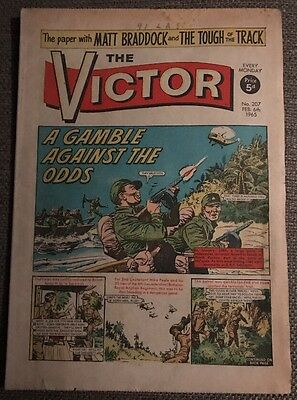 THE VICTOR COMIC No 207 - Feb 6th 1965 - A Gamble Against The Odds