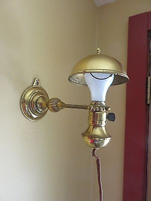 Antique Brass 1914 Wallace Novelity Industrail Desk Lamp Wall Hanging Wall Mount