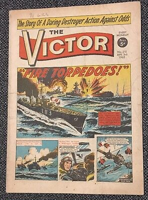 """THE VICTOR COMIC No 215 - Apr 3rd 1965 - """"Fire Torpedoes!"""""""