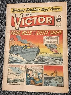 THE VICTOR COMIC No 208 - Feb 13th 1965 - Four Kills for the Little Ships