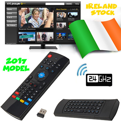 2017 Fly Air Mouse Remote Wireless Qwerty Keyboard for Android Smart Tv Box
