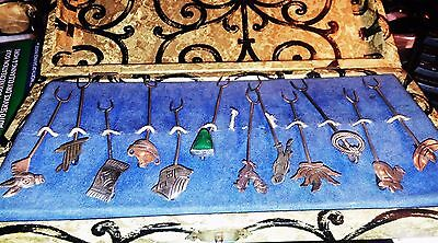 12 Vintage Maricela Taxco Mexico Sterling Silver Olive Picks Forks With Case