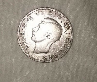 Dated : 1941 - Silver - One Florin / Two Shillings - Coin - King George VI