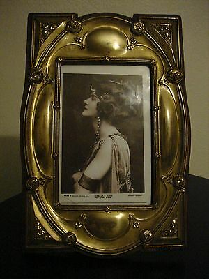 Delightful  Arts & Crafts ,art Nouveau  Rare Original  Brass Photo Frame