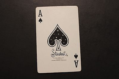 Vintage Ace of Spades with Bird on Flower on Back Playing Card
