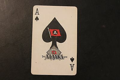 Vintage Ace of Spades The Alaska Line Playing Card