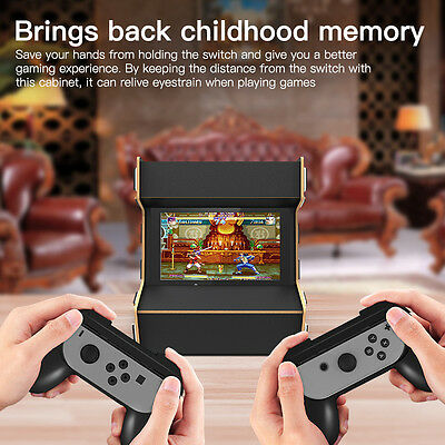 DIY Arcade Cabinet Stand Hardwood Assemble Stand For Nintendo Switch Game Play