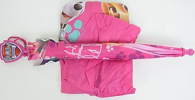 Nickelodeon Little Girls Paw Patrol Slicker and Umbrella Set, Pink, Small/ 2-3Y