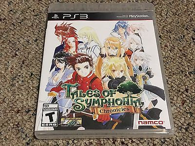 Tales of Symphonia: Chronicles (Sony PlayStation 3, 2014) Complete + Tested CIB