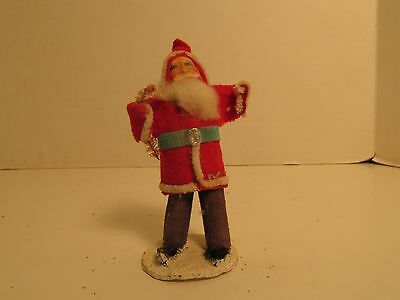 Santa Claus Pipe Cleaner Felt Celluloid Made in Japan 5 Cents