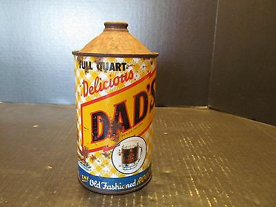 Dad's Root Beer Full Quart Cone Top Soda Can