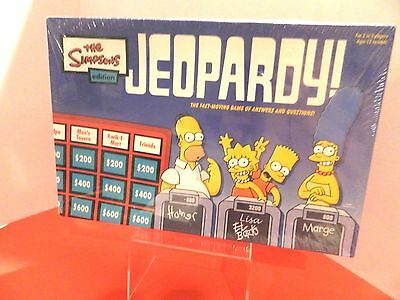 The Simpsons Edition Jeopardy Board Game Brand New -Factory Sealed Produced 2003