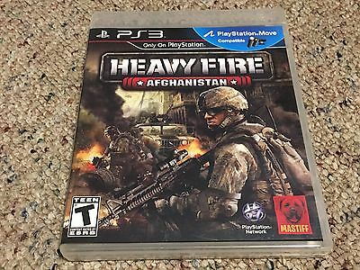 Heavy Fire: Afghanistan (Sony PlayStation 3, 2011) Complete + Tested CIB