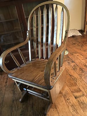 Solid Oak Glider Rocker in great condition