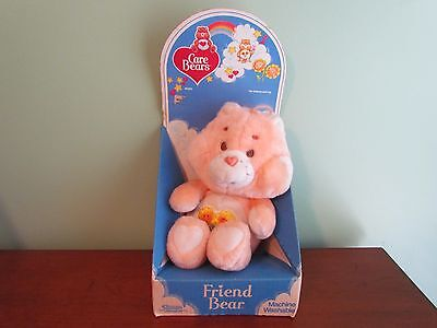 "Vintage 13"" Original 1983 CARE BEARS FRIEND BEAR Plush Teddy with Box 60220"