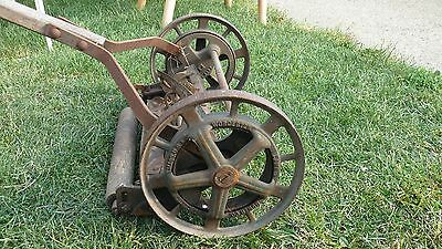 VINTAGE ANTIQUE Lawn Mower Rotary Reel Push Ball Bearing Lawn Grass Mower