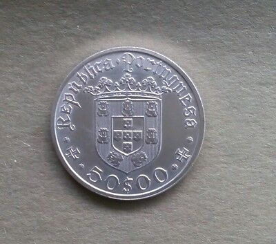 The Commmemorative Portugal Silver 50 Escudos 1968 Coin - Pedro Cabcal