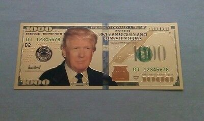 The Usa 1000 Dollars Novelty Bill / Note .# 4 / Souvenirs Not Real Note / .