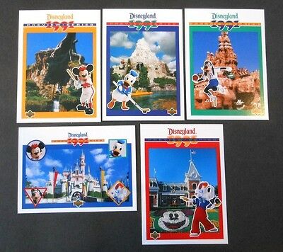 1991 Upperdeck Disneyland Preview Series Trading Card Set