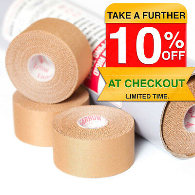 64 Rolls Premium Rigid Sports Strapping Tape 38mmx13.7m Athletic Muscle Support