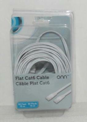 NEW OPEN BOX ONN Flat CAT6 cable 50Ft