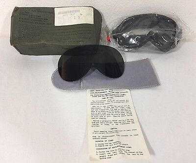 Vintage Steamco Army Issued Goggles Sun Wind Dust Ballistic Desert Storm Glasses